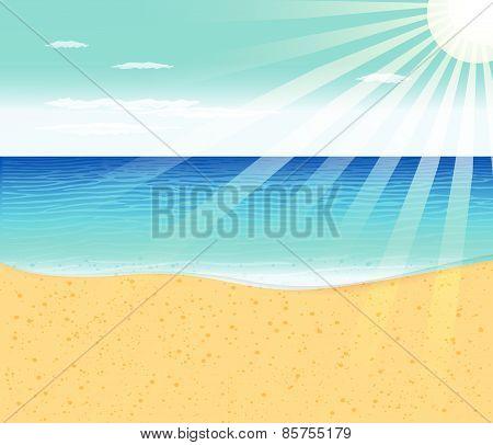 Tropical beach with