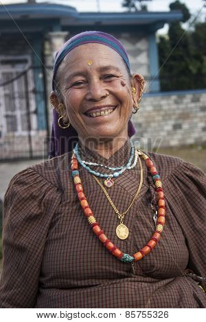 Portrait Of The Nepalese Woman.