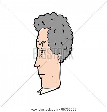 cartoon grey haired man