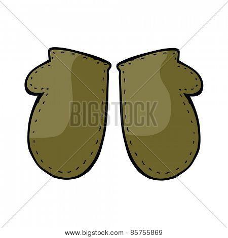 cartoon winter mittens