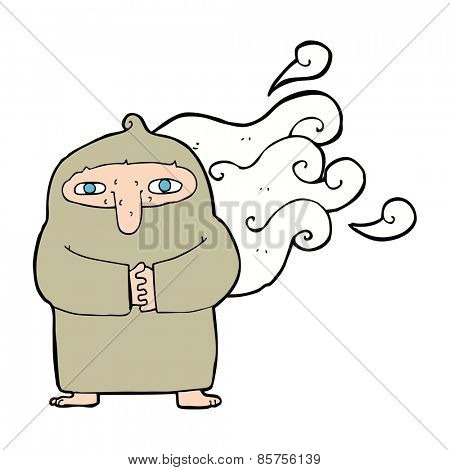 cartoon smelly monk