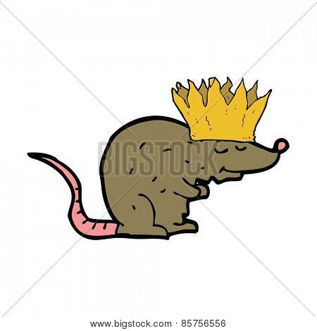 cartoon rat wearing a crown