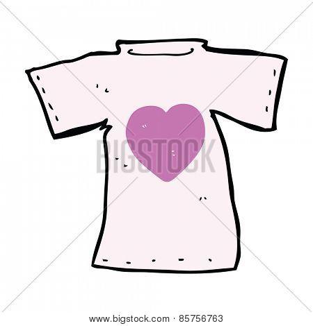 cartoon tee shirt printed with love heart
