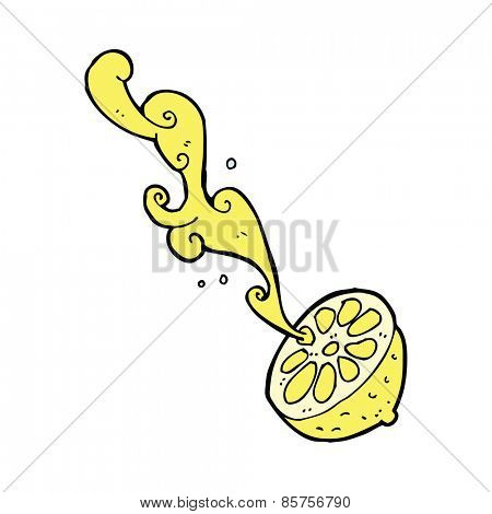 cartoon squirting lemon