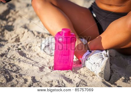 sports shaker on sand