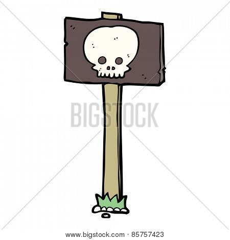 spooky sign post cartoon