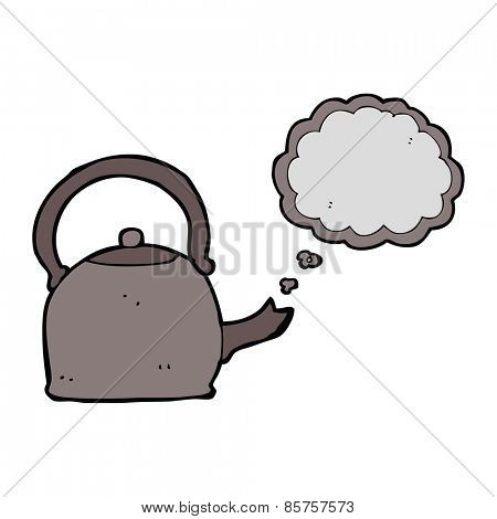 cartoon boiling kettle