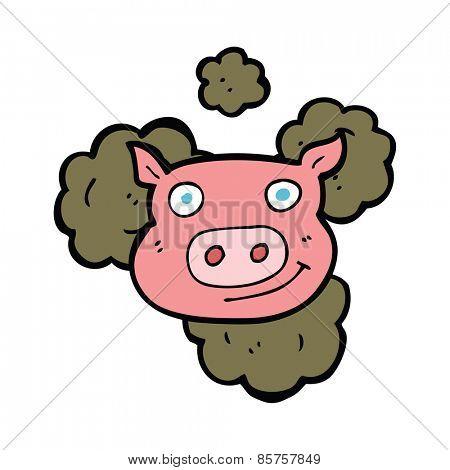 dirty pig cartoon