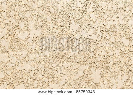 Abstract Brown Sepia Concrete, Weathered With Cracks And Scratches. Landscape Style. Grungy Concrete