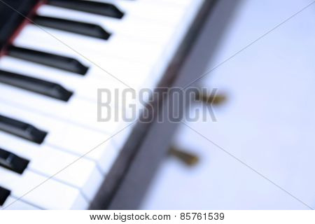 Blur Part Of Piano