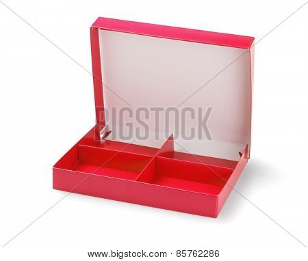 Confectionery Box With Partitions On White Background