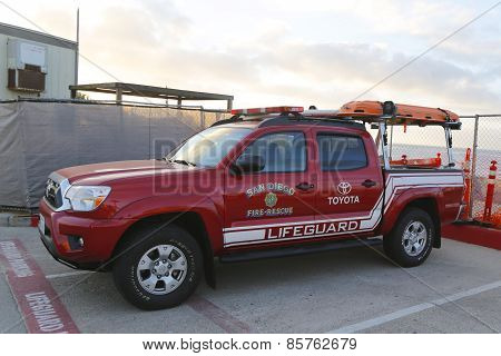 San Diego Fire-Rescue Lifeguard car in La Jolla, California