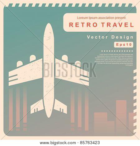 Vector Retro travel illustration