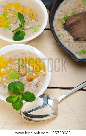 Hearty Middle Eastern Chickpea And Barley Soup