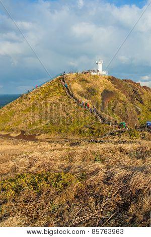 Seopjikoji Mount In Jeju Island, South Korea