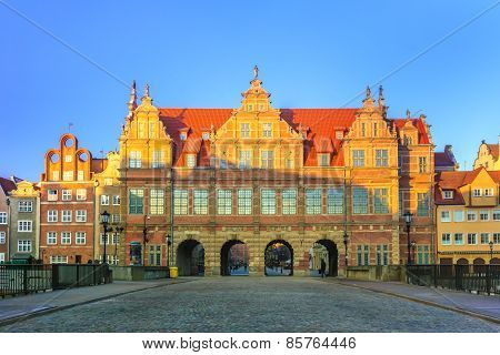 Green Gate in Gdansk formal residence of monarchs