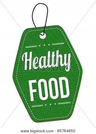 Healthy Food Label Or Price Tag