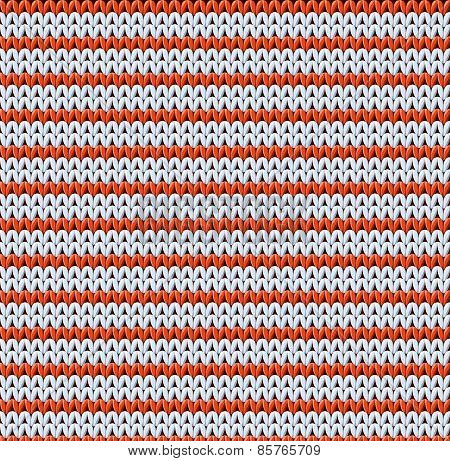Detailed knitted striped red-and-white pattern