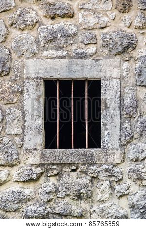 Barred Prison Window