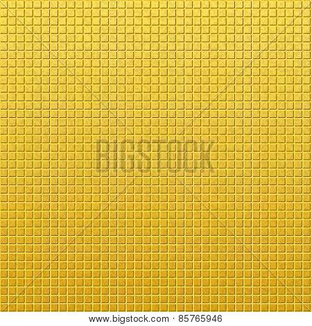 Vintage golden pattern of squares