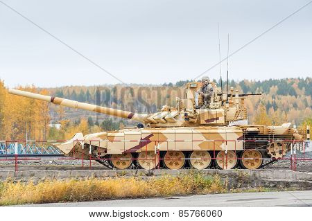 Modified T-72 with additional protection kit