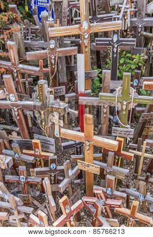 Colorful Crosses At The Hill Of Crosses