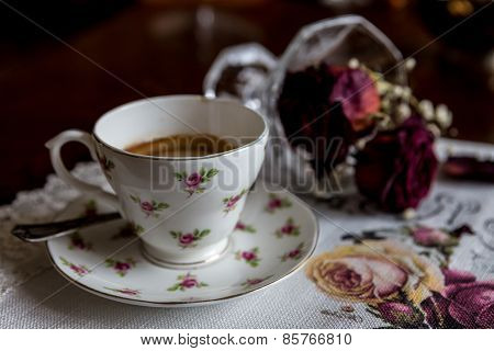 Cup Of Coffee And Blurred Background