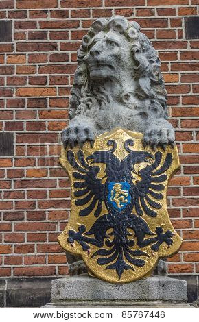 Lion Statue At The Waag In Nijmegen