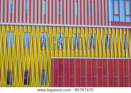 Detail Of A Modern Building Of The Groningen University