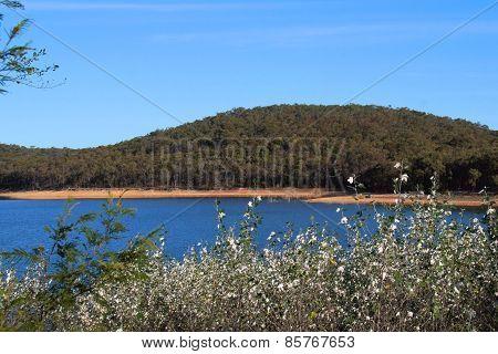 Sugarloaf Reservoir in Victoria, Australia.