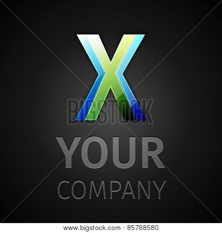 abstract vector logo letter X