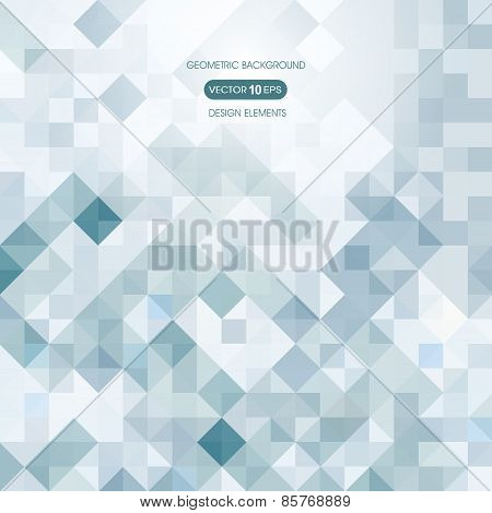 Abstract background of squares with elements of geometry