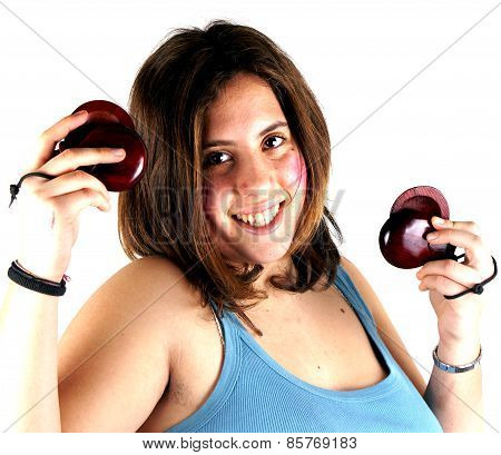 Girl playing castanets