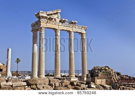 Historic ruin of the Temple of Apollo.