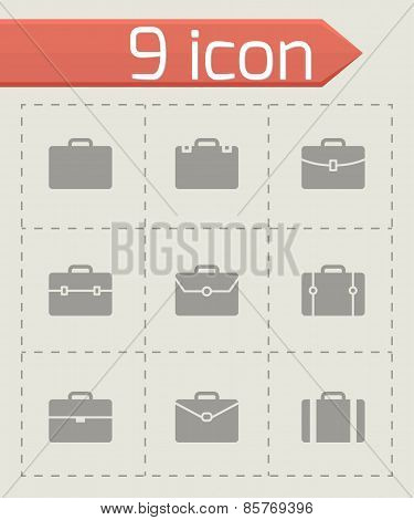 Vector briefcase icon set