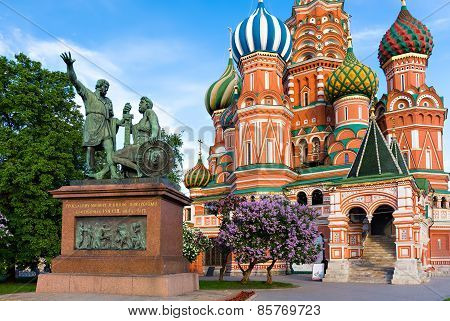 St. Basil Cathedral In Moscow, Russia.