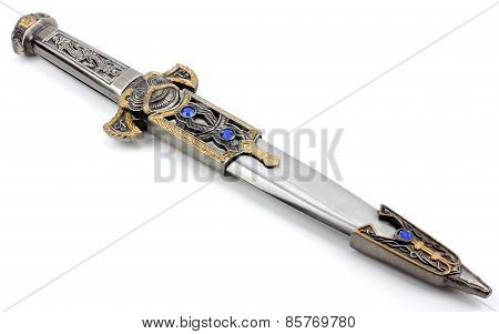 Fantasy Style Dagger Isolated On White.
