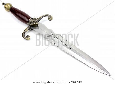 Fantasy Style Dagger Isolated On White