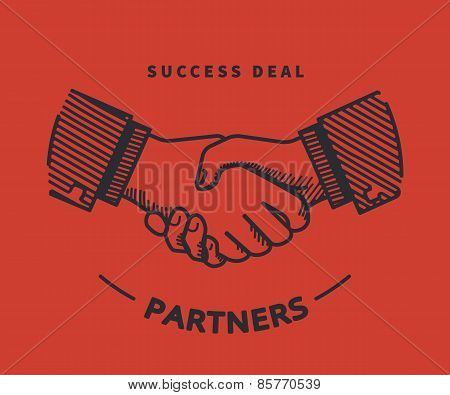 Handshaking illustration