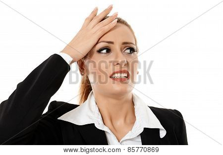 Businesswoman Having A Headache