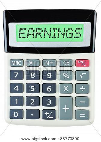 Calculator With Earnings