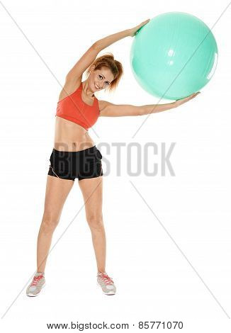 Aerobics Girl With Gym Ball