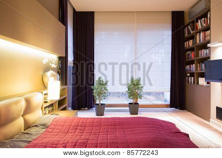 Interior Of Modern Style Bedroom