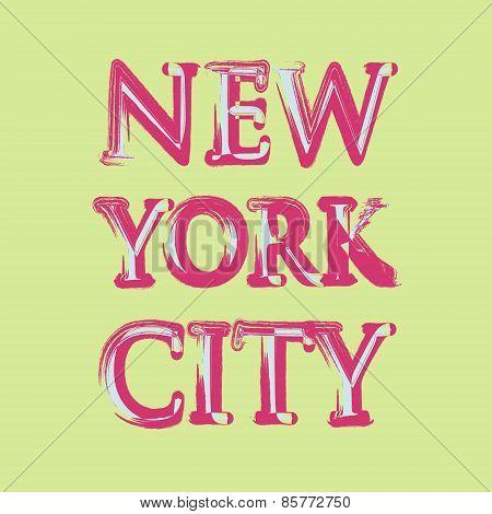 New york flag typography, t-shirt graphics, vectors