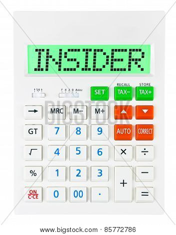 Calculator With Insider