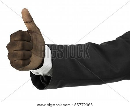 African Descent Businessman With Thumbs Up