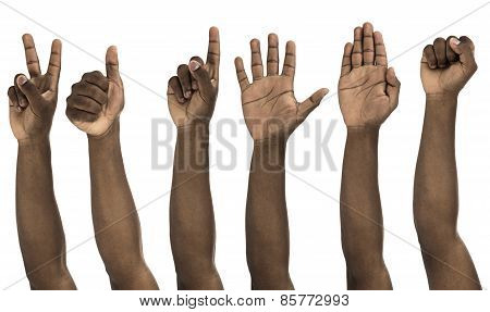 African Descent Man Doing Hand Gestures