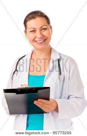 Doctor With A Beautiful Smile And Recipes