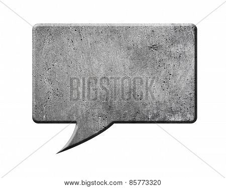 Concrete Speech Bubble, isolated