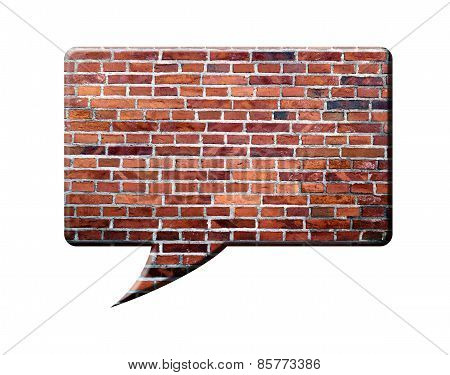 Brick Speech Bubble, isolated